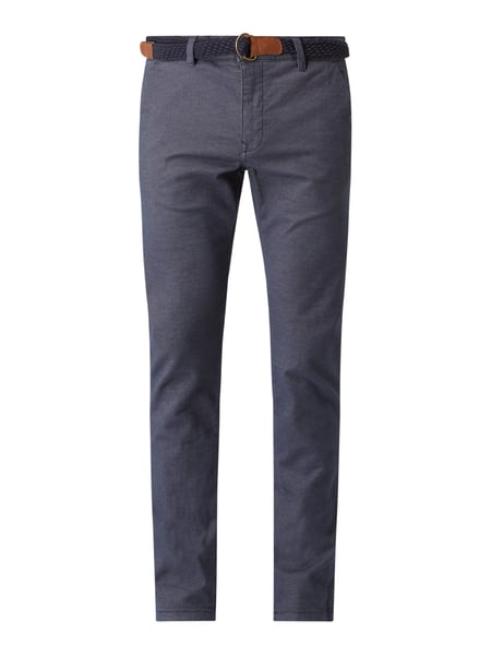 REVIEW Chino mit Stretch-Anteil Blau - 1