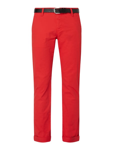 REVIEW Chino mit Stretch-Anteil Rot - 1