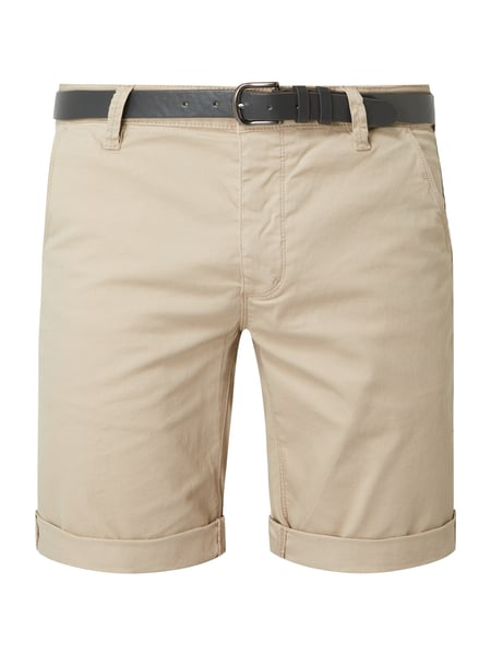 REVIEW Chino-Shorts aus Baumwoll-Elasthan-Mix Beige - 1