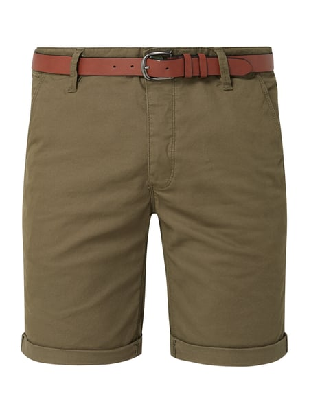 REVIEW Chino-Shorts aus Baumwoll-Elasthan-Mix Grün - 1