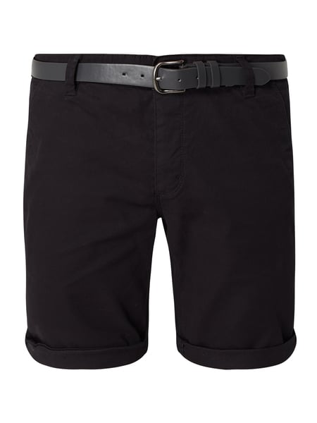 REVIEW Chino-Shorts aus Baumwoll-Elasthan-Mix Schwarz - 1