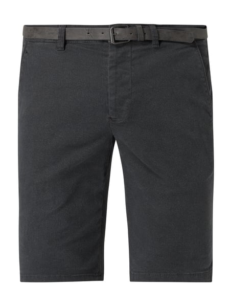 REVIEW Chino-Shorts mit Stretch-Anteil Grau - 1