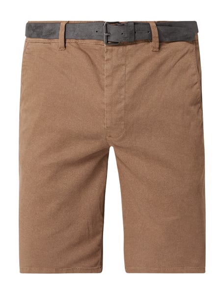 REVIEW Chino-Shorts mit Stretch-Anteil Beige - 1