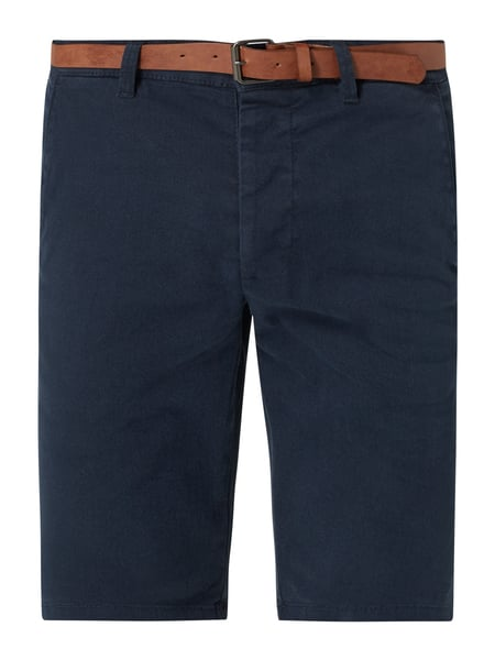 REVIEW Chino-Shorts mit Stretch-Anteil Blau - 1
