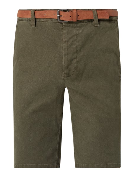 REVIEW Chino-Shorts mit Stretch-Anteil Grün - 1