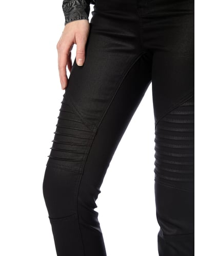 Coated Skinny Fit Jeans mit Steppungen REVIEW online kaufen - 2