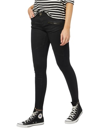 REVIEW Coated Skinny Fit Jeans Schwarz - 1