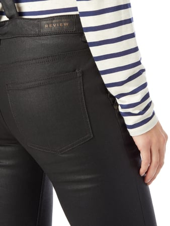 Coated Slim Fit Latzhose REVIEW online kaufen - 1