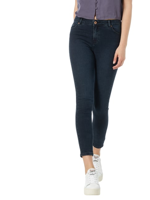 REVIEW Coloured High Waist Jeans Dunkelblau - 1