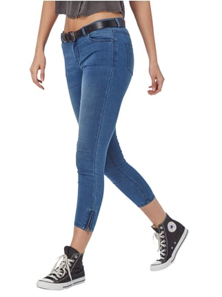 REVIEW Coloured Skinny Fit Jeans Blau meliert - 1