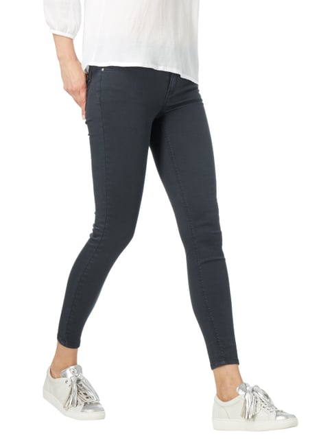 REVIEW Coloured Skinny Jeans Dunkelblau - 1