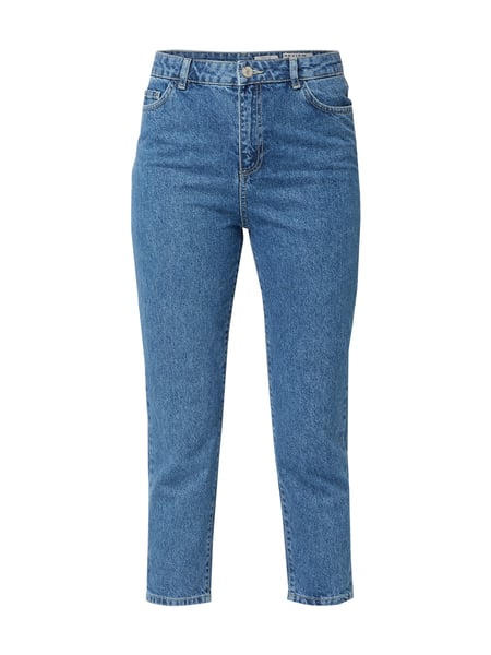 REVIEW Cropped Mom Fit Jeans Blau - 1