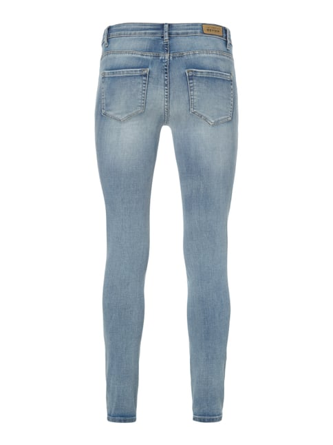 REVIEW Double Stone Washed Skinny Fit Jeans Hellblau - 1