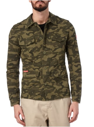REVIEW Fieldjacket mit Camouflage-Muster Olivgrün - 1