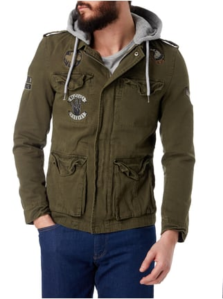 REVIEW Fieldjacket mit Kontrastkapuze Khaki - 1