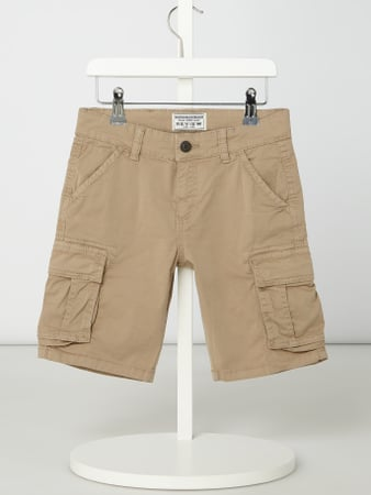 Review for Kids Cargobermudas mit Stretch-Anteil Beige - 1