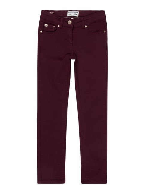 Coloured Slim Fit 5-Pocket-Jeans Lila - 1