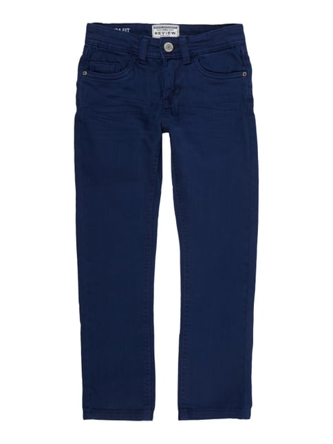 Coloured Slim Fit Jeans mit Stretch-Anteil Blau / Türkis - 1