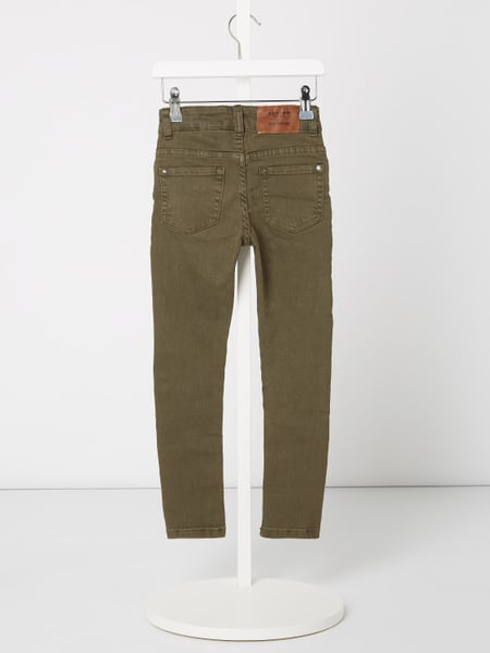 Review for Kids – Coloured Slim Fit Jeans mit Stretch Anteil – Schilf