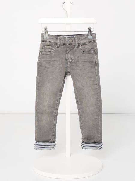 Review for Kids Gefütterte Slim Fit Jeans mit Stretch-Anteil Grau - 1