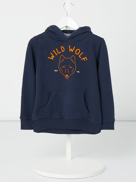Review for Kids Hoodie mit Flockprint Blau - 1