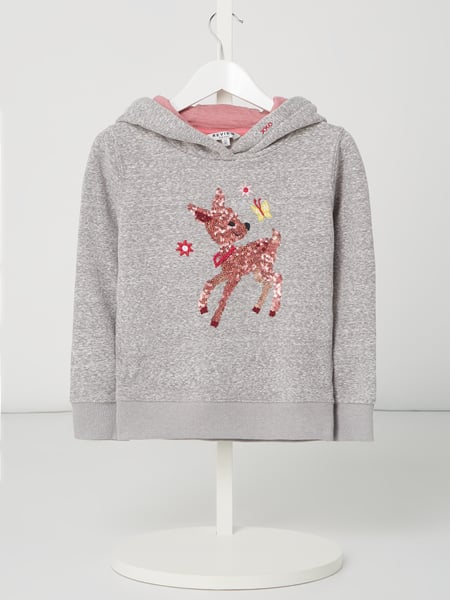 Review for Kids Hoodie mit Wende-Pailletten Grau - 1