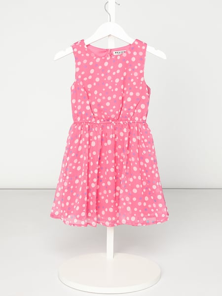 Review for Kids Kleid aus Chiffon mit Punktemuster Rosa - 1
