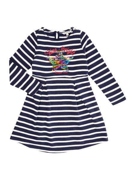 REVIEW-FOR-KIDS Kleid mit Stern aus Wende-Pailletten in Blau ...