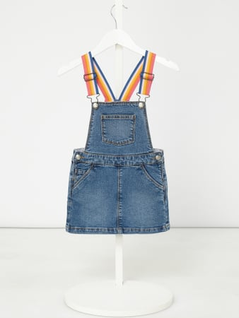Review for Kids Latzkleid aus Denim mit bunten Trägern Blau - 1