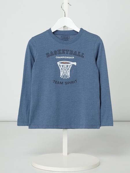Review for Kids Longsleeve mit Basketball-Applikation Blau - 1