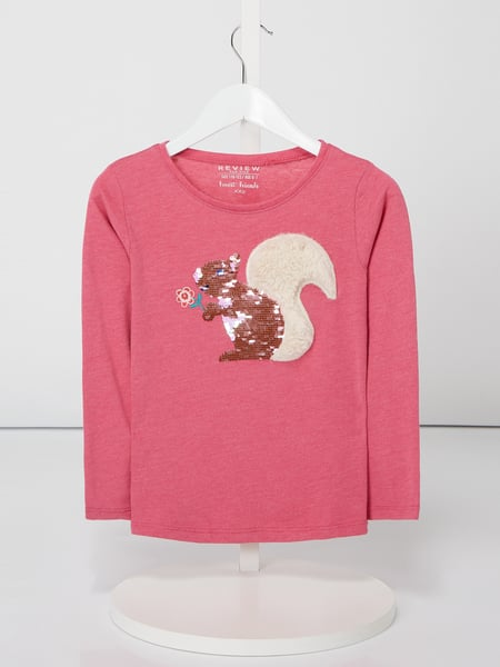 Review for Kids Longsleeve mit Eichhörnchen-Motiv Rosé - 1