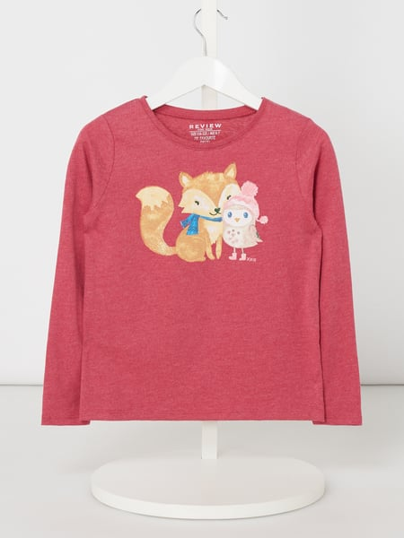 Review for Kids Longsleeve mit Glitter-Effekt Lila - 1
