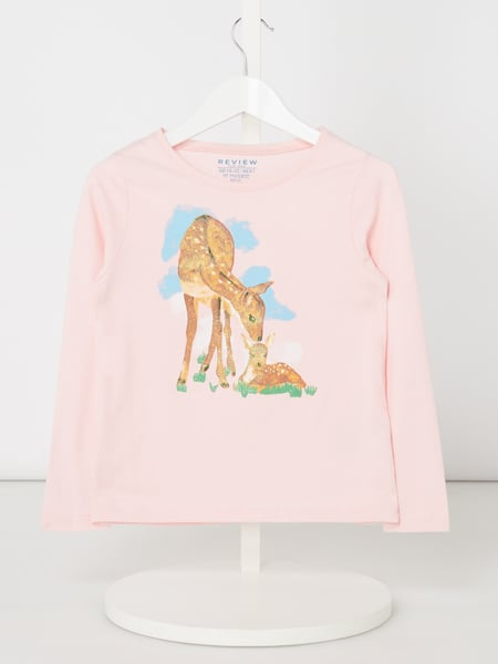 Review for Kids Longsleeve mit Glitter-Effekt Rosa - 1