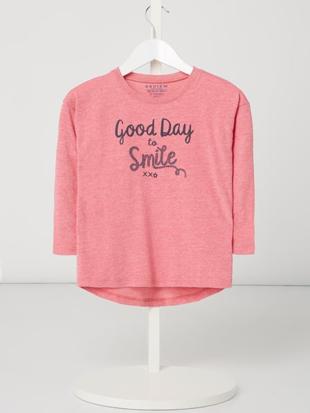 Review for Kids Longsleeve mit Message-Flockprint Rosa - 1