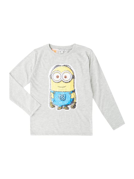 Review for Kids Longsleeve mit Minions™-Motiv aus Wende-Pailletten Grau - 1
