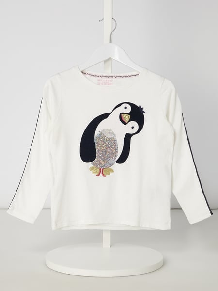 Review for Kids Longsleeve mit Pinguin-Stickerei Weiß - 1