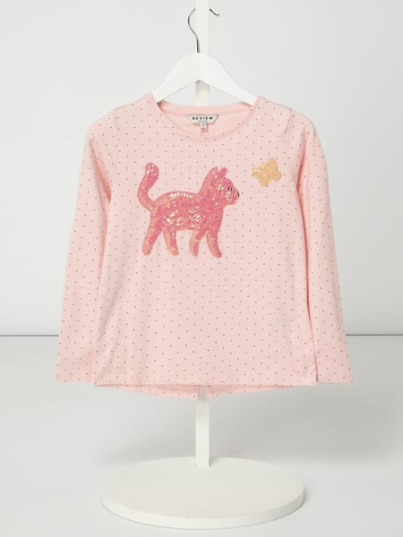 Review for Kids Longsleeve mit Punktemuster Rosa - 1