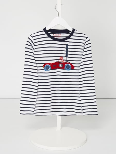 Review for Kids Longsleeve mit Rennwagen-Motiv Weiß - 1
