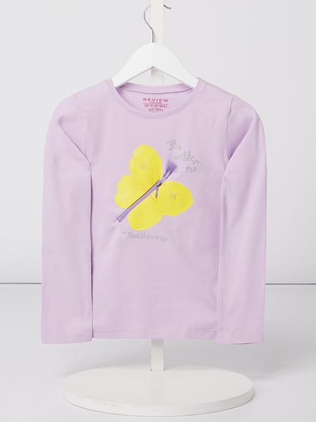 Review for Kids Longsleeve mit Schmetterling-Applikation Lila - 1