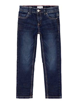 One Washed Regular Fit 5-Pocket-Jeans Blau / Türkis - 1