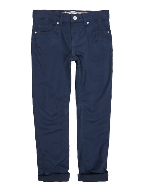 Regular Fit 5-Pocket-Hose mit Futter Blau / Türkis - 1