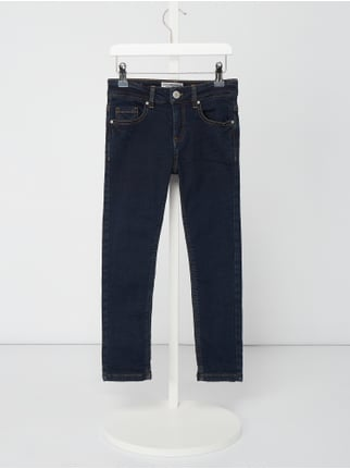 821122850e8a27 Review for Kids Rinsed Washed Slim Fit Jeans - gefüttert Blau   Türkis - 1  ...