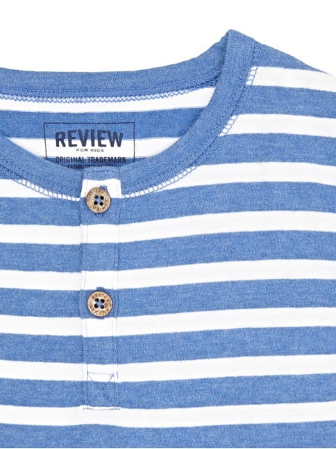 Serafino-Shirt mit Streifenmuster Review for Kids online kaufen - 1