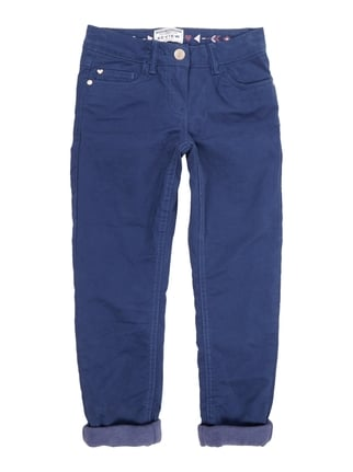 Slim Fit 5-Pocket-Hose mit Fleecefutter Blau / Türkis - 1