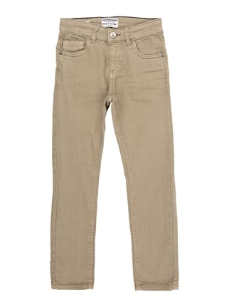 Slim Fit 5-Pocket-Hose mit Stretch-Anteil Weiß - 1