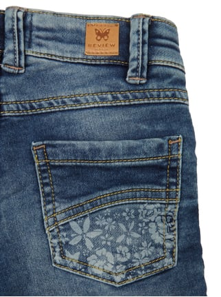 Slim Fit 5-Pocket-Jeans mit floralen Prints Review for Kids online kaufen - 1