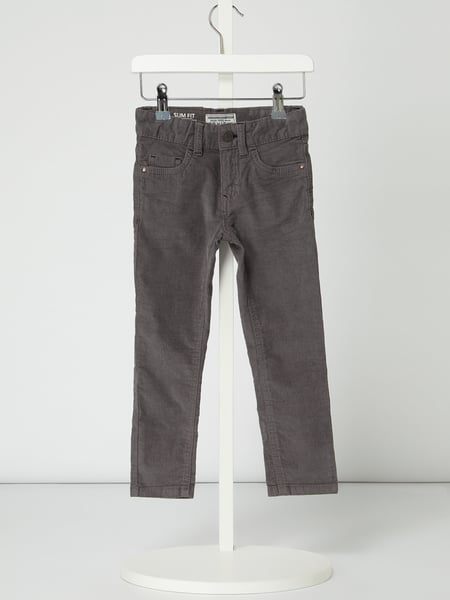 Review for Kids Slim Fit Hose aus Cord Grau - 1