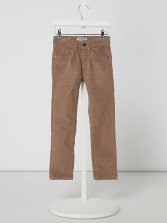 Review for Kids Slim Fit Hose aus Cord Beige - 1