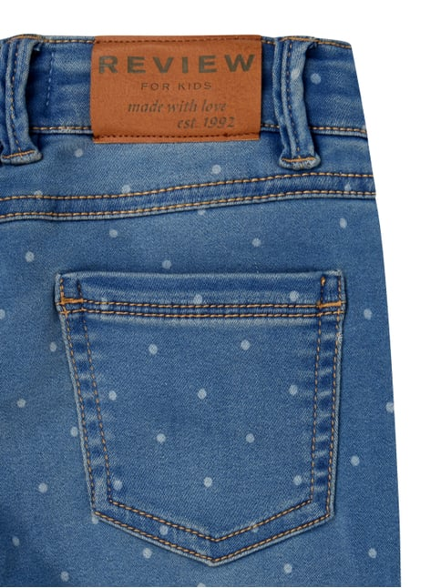 Slim Fit Jeans mit Punktemuster Review for Kids online kaufen - 1