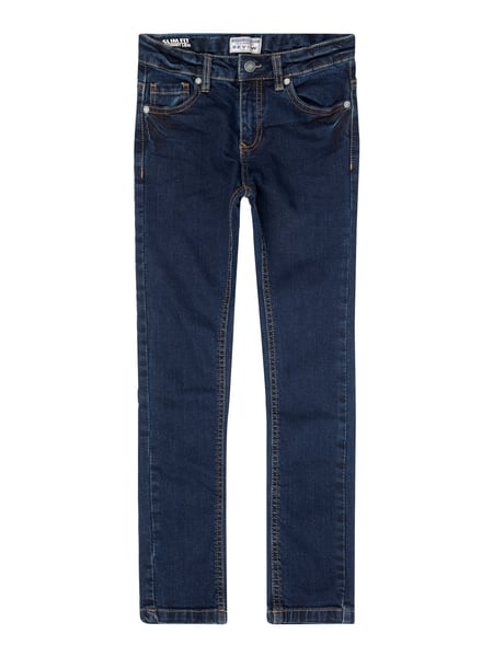 Review for Kids Slim Fit Jeans mit Stretch-Anteil Blau / Türkis - 1